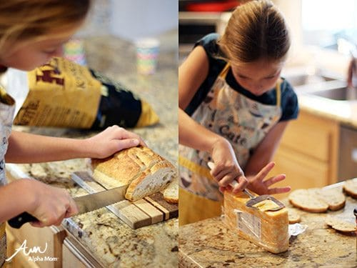Grilled Cheese | Recipes Kids Should Know How to Cook Before Leaving Home (cutting bread & slicing cheese) by Jane Maynard for Alphamom.com