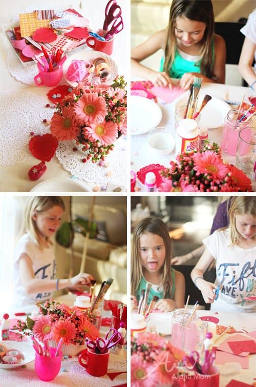 Valentine Crafting: a Tween Girl Bonding Experience (afternoon party) by Brenda Ponnay by Alphamom.com