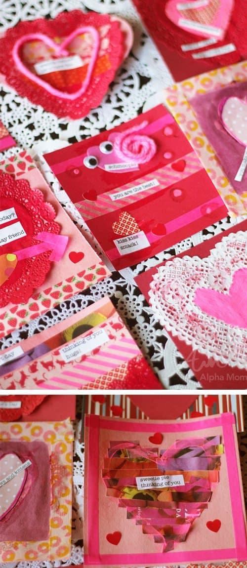 Valentine Crafting: a Tween Girl Bonding Experience (making cards) by Brenda Ponnay by Alphamom.com