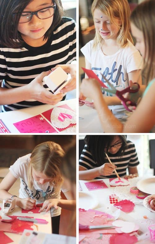 Valentine Crafting: a Tween Girl Bonding Experience (making card) by Brenda Ponnay by Alphamom.com
