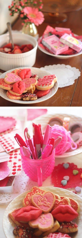 Valentine Crafting: a Tween Girl Bonding Experience (party snacks) by Brenda Ponnay by Alphamom.com