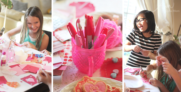 Valentine Crafting: a Tween Girl Bonding Experience
