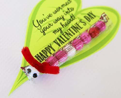 Printable Worm Class Valentine Cards by Cindy Hopper for Alphamom.com
