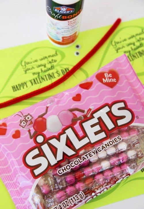 Printable Worm Class Valentine Cards (worm valentine supplies) by Cindy Hopper for Alphamom.com