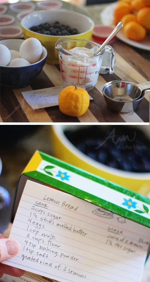 Greek Yogurt Blueberry Lemon Muffins Recipe (ingredients) by Brenda Ponnay for Alphamom.com