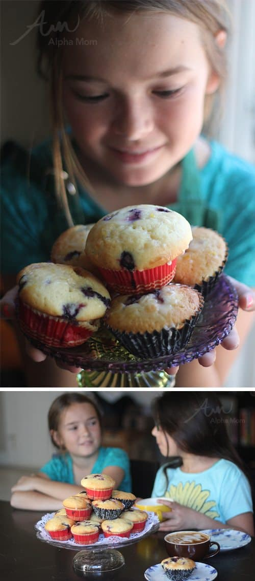 Greek Yogurt Blueberry Lemon Muffins Recipe (breakfast time!) by Brenda Ponnay for Alphamom.com