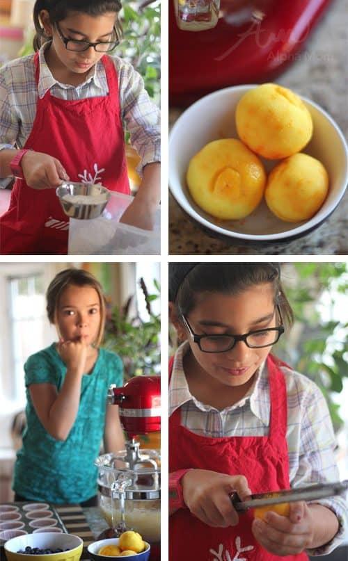 Greek Yogurt Blueberry Lemon Muffins Recipe (prep) by Brenda Ponnay for Alphamom.com