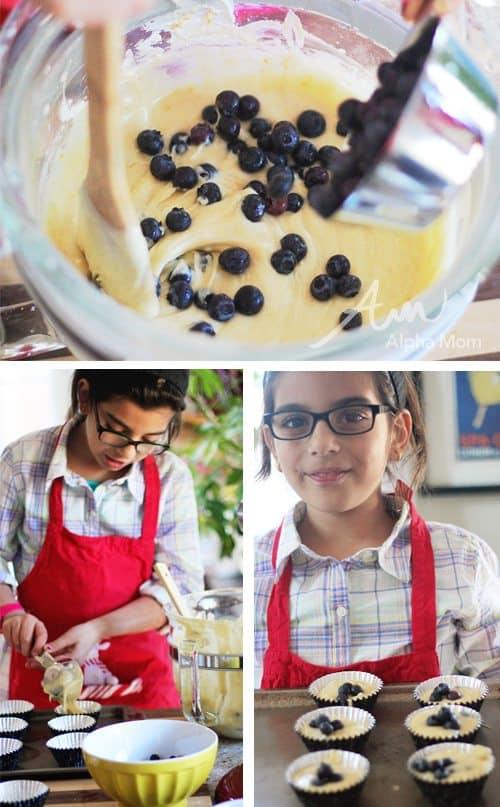 Greek Yogurt Blueberry Lemon Muffins Recipe (baking!) by Brenda Ponnay for Alphamom.com