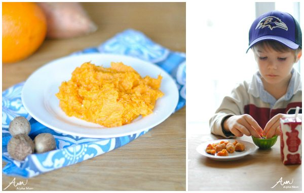 Citrus Sweet Potato Mash & Tater Tots Recipes #cookingwithkids by Amalah for Alphamom.com