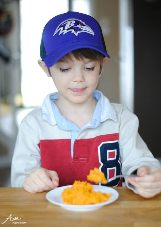 Citrus Sweet Potato Mash Recipe for kids by Amalah for Alphamom.com
