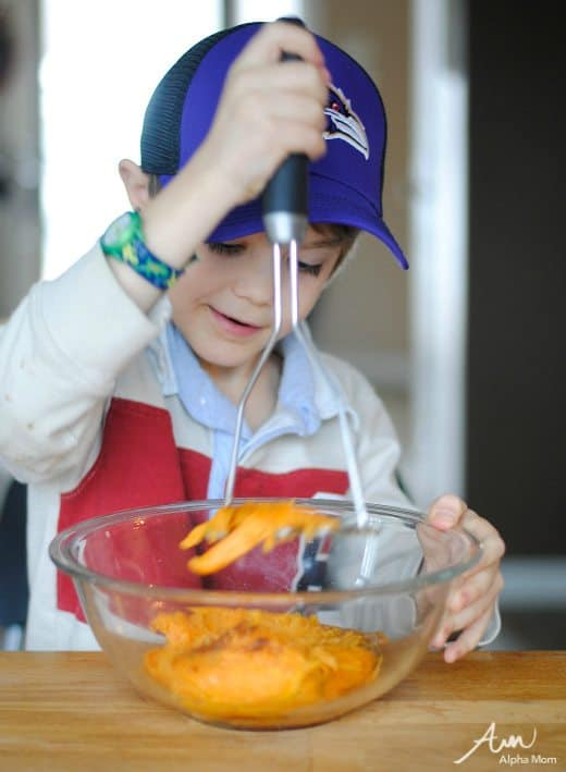 Citrus Sweet Potatoes: Two Ways (Mashed & Tots) #cookingwithkids #foodprep by Amalah for Alphamom.com