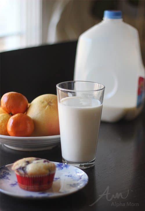 "Our Morning Protein: a ""new"" New Year's Resolution! (milk + greek yogurt muffin) by Brenda Ponnay for Alphamom.com"
