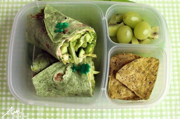 A Not-Too-Cutesy St. Patrick's Day Lunch Bento Box for Bigger Kids by Wendy Copley for Alphamom.com