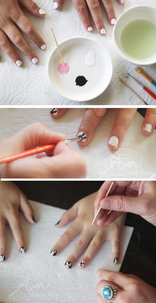 Bunny Nails for Easter! (tutorial) by Brenda Ponnay for Alphamom.com