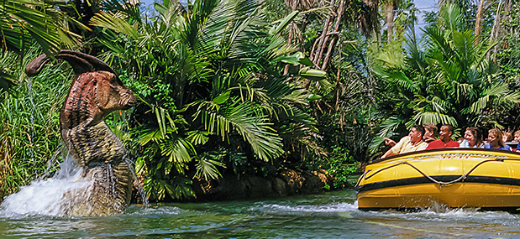 Universal Orlando Resort's Rides & Attractions (excluding Harry Potter): Jurassic Park River Adventure