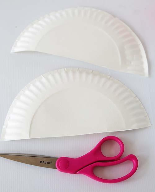 Hanging Rainbow Paper Plate craft (Step 1) by Cindy Hopper for Alphamom.com