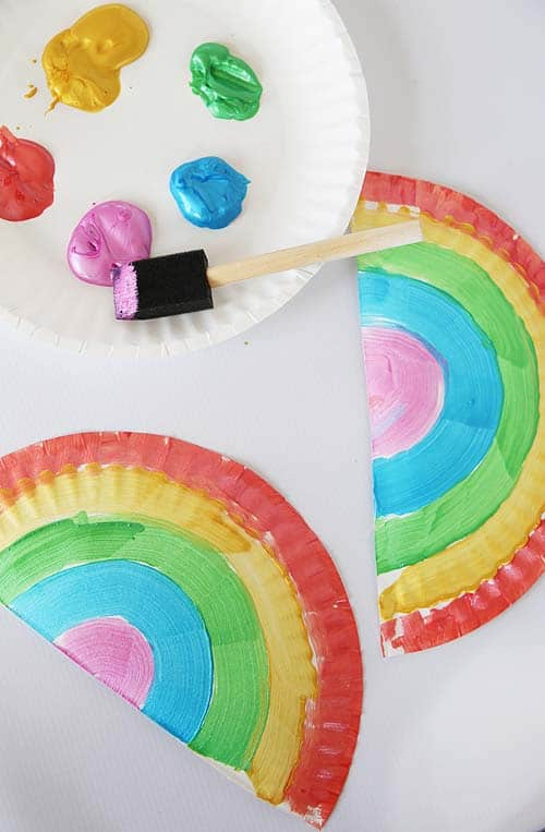 Hanging Rainbow Paper Plate Craft Alpha Mom