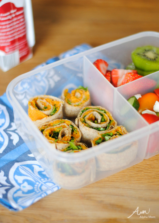 Citrus Sweet Potato Pinwheels for the Bento Lunch: Cooking For & With Kids by Amalah for Alphamom.com