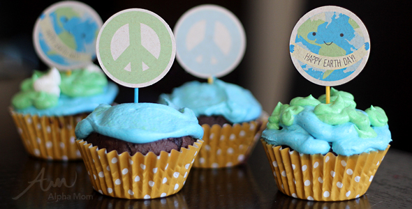 Earth Day Cupcake Toppers