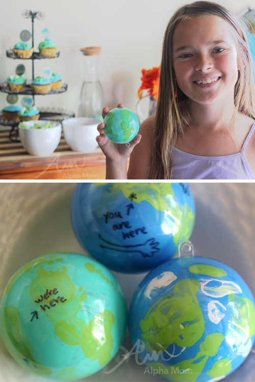 Earth Day Globe Ornaments Craft