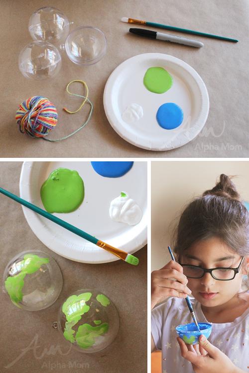 Earth Day Globe Ornament Craft by Brenda Ponnay for Alphamom.com (supplies)