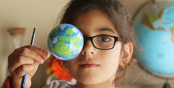 Earth Day Craft: Globe Ornaments