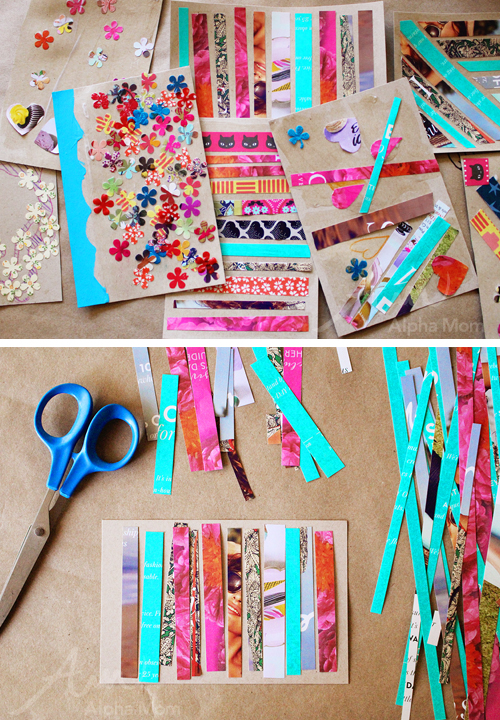 Earth day crafting postcard supplies