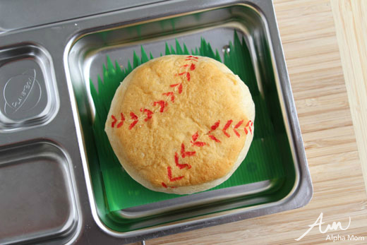 "A Baseball-Themed Lunch for Little League Season (biscuits into ""baseballs"" tutorial) by Wendy Copley for Alphamom.com"