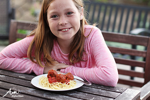 Meals Kids Should Know: How to Make Spaghetti and Meatballs by Jane Maynard for Alphamom.com