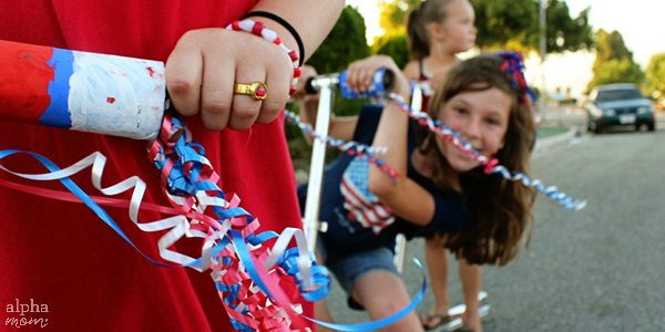 Patriotic Parade Streamers for Your Bicycles & Scooters by Brenda Ponnay for Alphamom.com