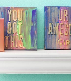 Wordy-Paintings-on-a-shelf-Alphamom