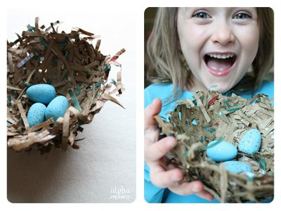 Brown Bag Bird's Nest by Ellen Luckett Baker for Alphamom.com