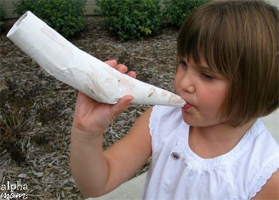 Make a Shofar to Celebrate the Jewish New Year Rosh Hashanah by by Cindy Hopper for Alphamom.com