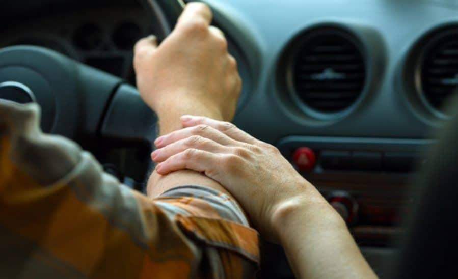 Parent Teaching Nervous Teen Driver