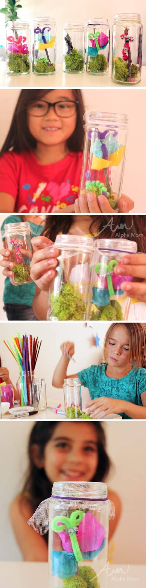 "Pretend ""Bugs in a Jar"" Craft by Brenda Ponnay for Alphamom.com (tutorial)"