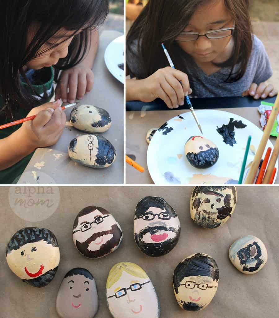 Dad Rocks: a Father's Day Gift! by Brenda Ponnay for Alphamom.com (tutorial painting)