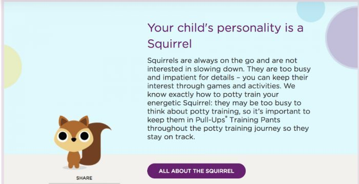 Ready to Potty Train? Try the Pull-Ups Potty Partnership! (Squirrel Personality)