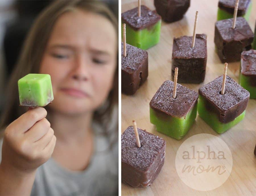 Minecraft Pops Recipe (mini pops) by Brenda Ponnay for Alphamom.com