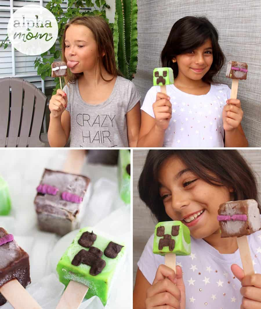 Minecraft Pops Recipe & Tutorial by Brenda Ponnay for Alphamom.com