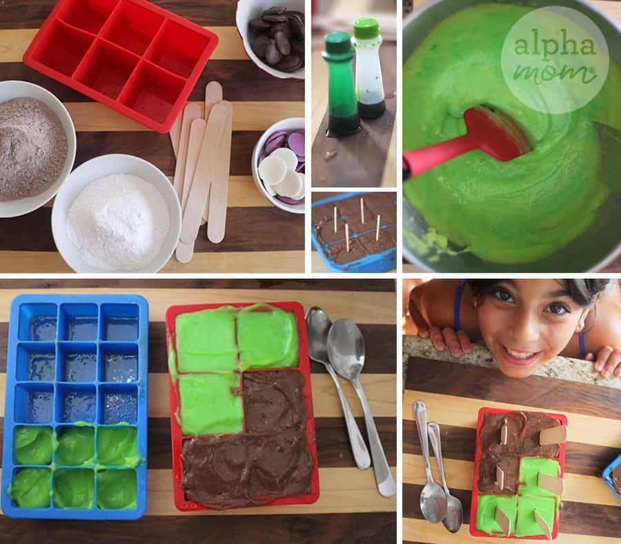 Tutorial: making Minecraft pudding pops