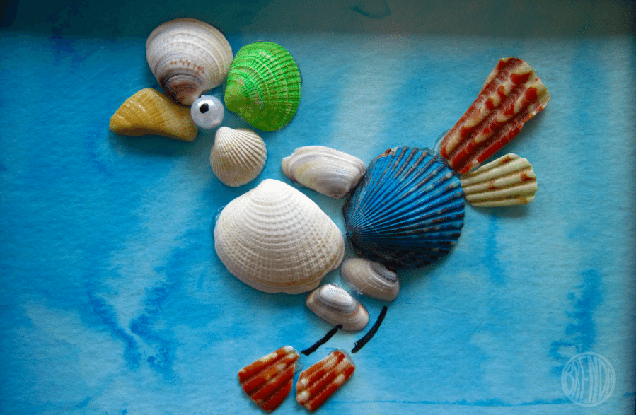 Sea Shell Art DIY by Brenda Ponnay for Alphamom.com