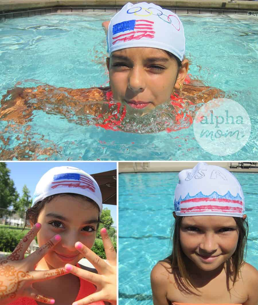 DIY Olympics & Team USA Swimcaps Craft by Brenda Ponnay for Alphamom.com