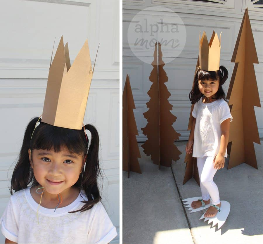"DIY ""Wild Things"" Kids Costume by Brenda Ponnay for Alphamom.com (crown tutorial)"