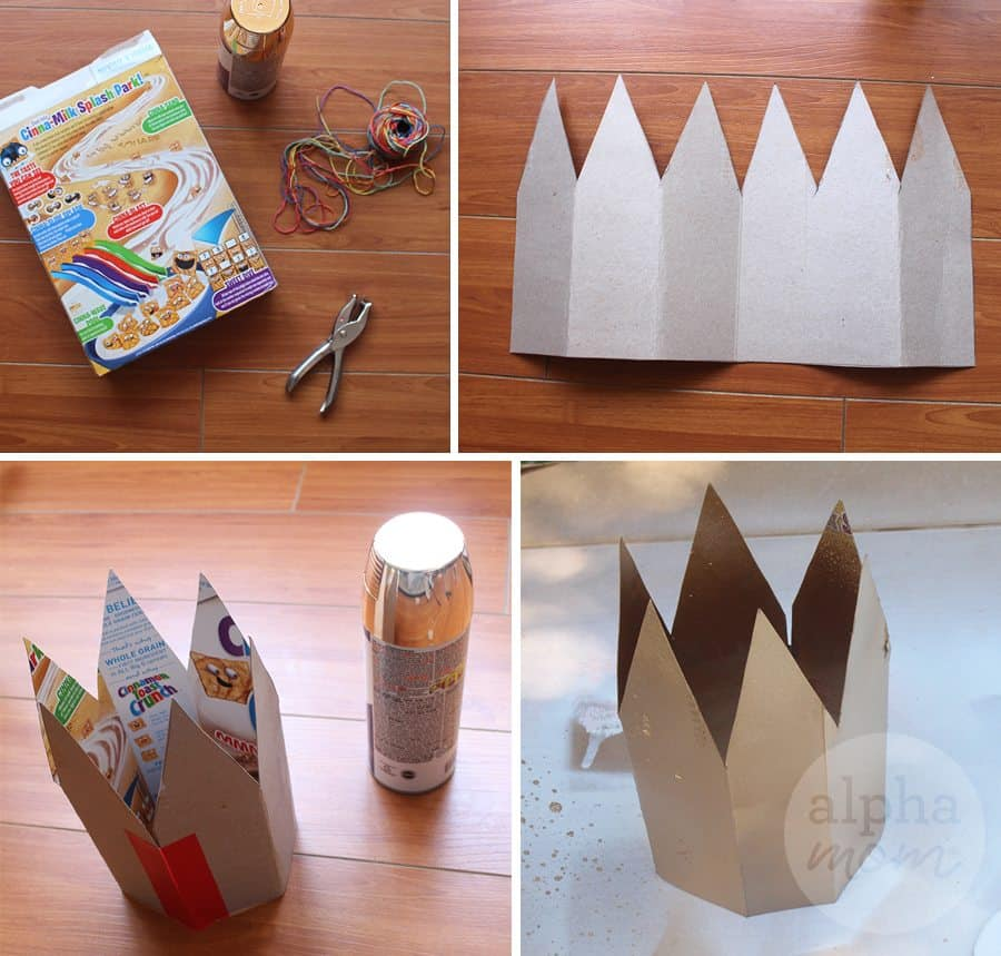 "DIY ""Wild Things"" Kids Costume by Brenda Ponnay for Alphamom.com (crown supplies)"