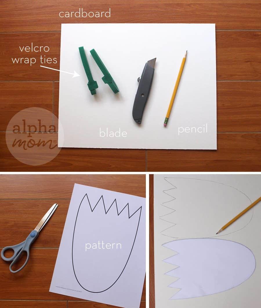DIY Wild Things Kids Costume by Brenda Ponnay for Alphamom.com (monster feet supplies)