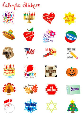 Decorate Your Calendar With Event Stickers Alpha Mom