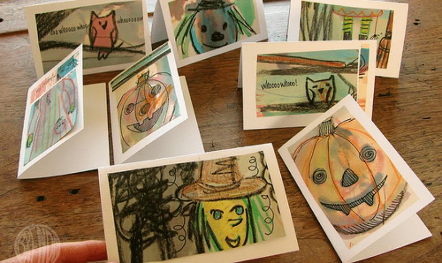 Handmade (and upcycled) Halloween Cards by Brenda Ponnay for Alphamom.com
