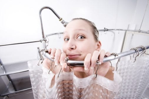 how to take phone in shower
