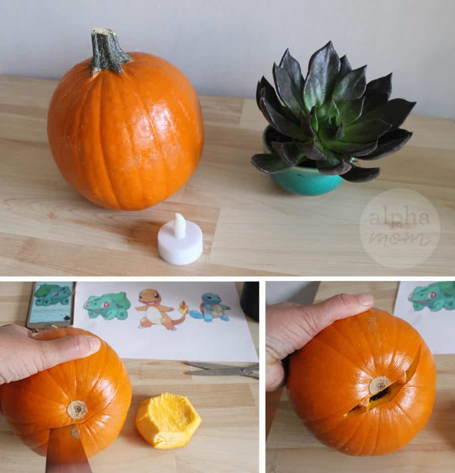Pokemon Go Halloween: Bulbasaur Jack-O'-Lantern Tutorial by Brenda Ponnay for Alphamom.com