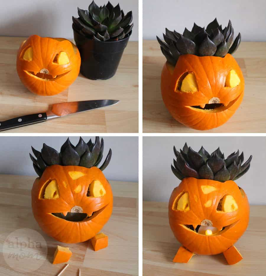 Pokemon Go Halloween: Ivysaur Jack-O'-Lantern (how-to) by Brenda Ponnay for Alpahmom.com